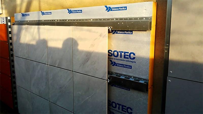 Isotec parete guida materiali edili