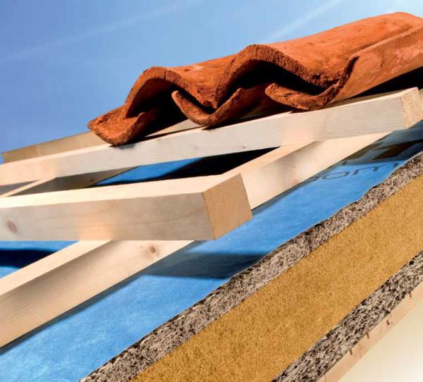 Isolamento termico di tetti in legno